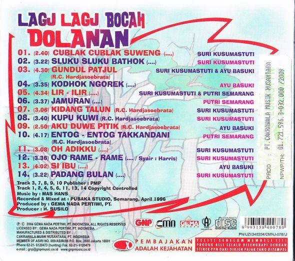 Lagu-lagu Bocah Dolanan