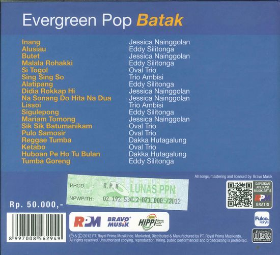 Evergreen Pop Batak